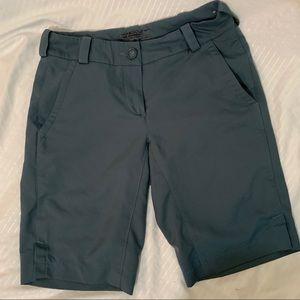 Dri fit Nike golf grey shorts for women